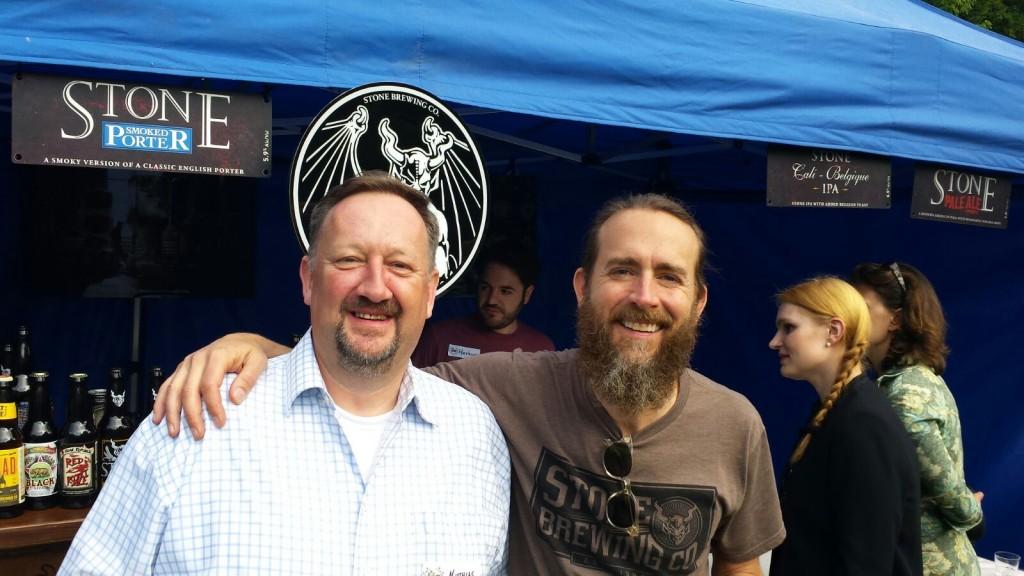 Matthias mit Greg Koch, CEO der Stone Brewing Company