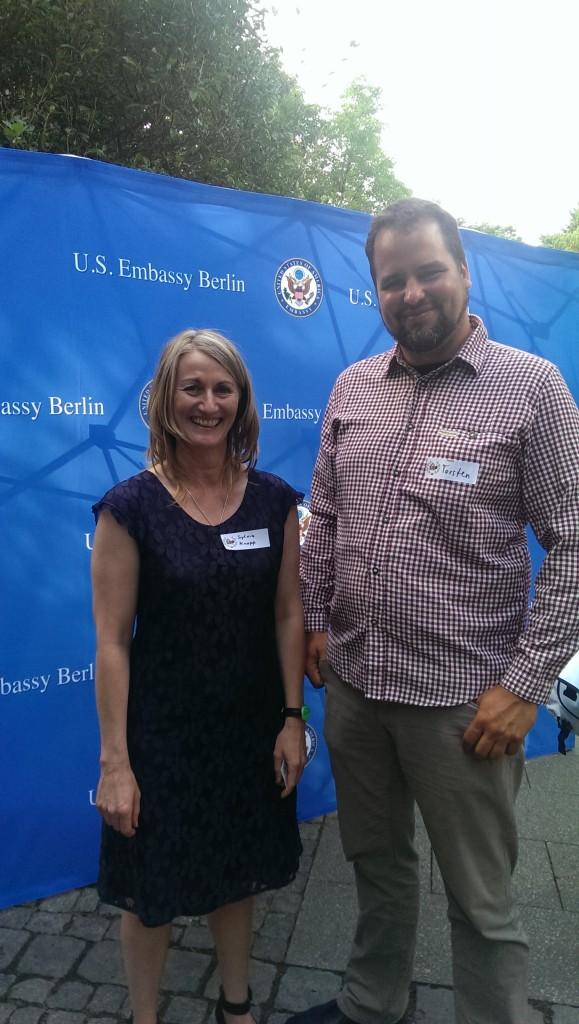 Torsten Purat mit der Bier-Botschafterin Sylvia Kopp